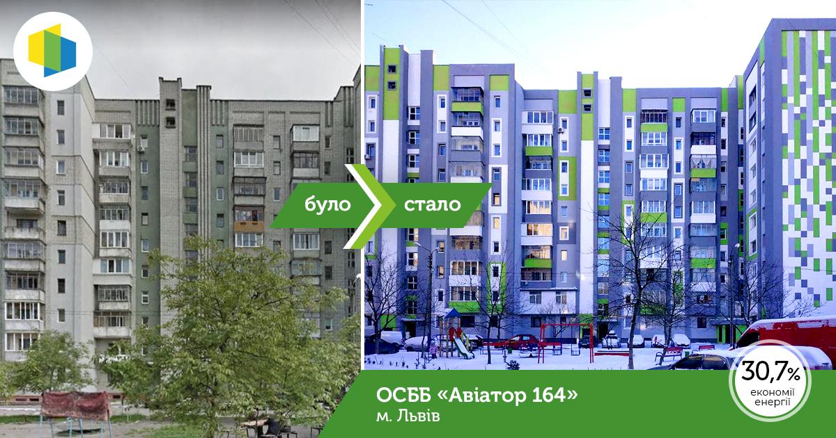"""ОСББ """"Авіатор 164"""" у Львові отримало фінальний  грант за програмою """"Енергодім"""""""